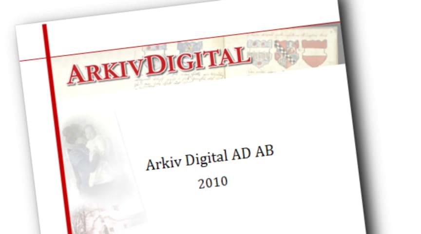 Arkiv Digital AD AB, Bokslutskommuniké 2010