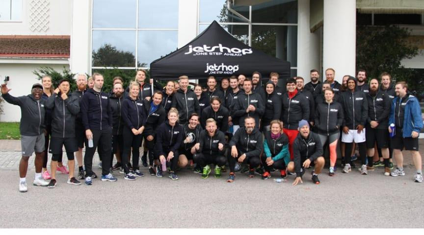 Team Jetshop från sommarens kick-off i Halland.