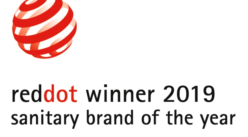 "GROHE har vundet ""Red Dot: Brand of the Year"" 2019"