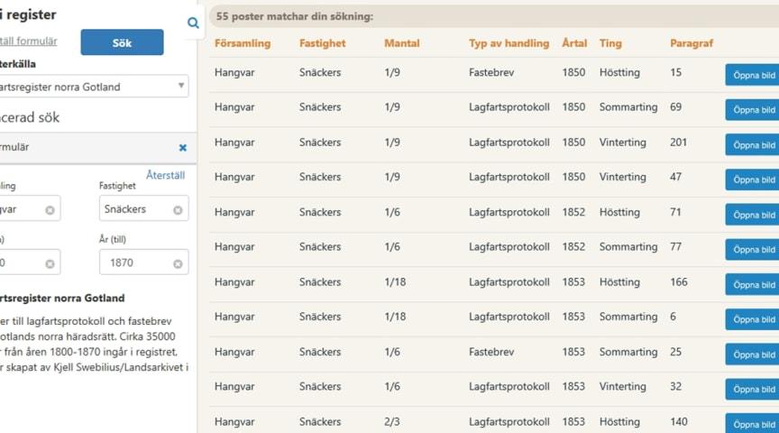 NYTT HOS ARKIVDIGITAL: Lagfartsregister för Gotlands norra häradsrätts arkiv