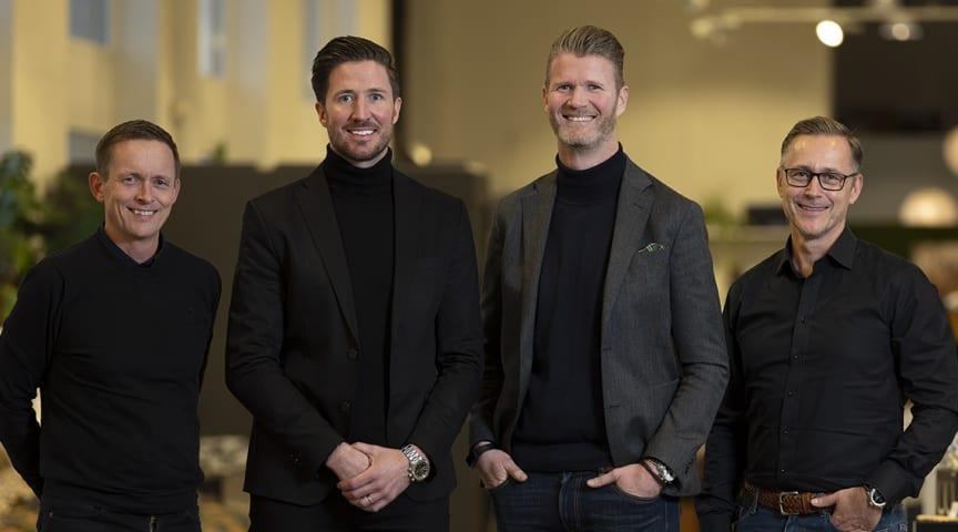 Fredrik von Carlsburg, Marcus Eriksson, Michael Serrander och Joachim von Carlsburg (foto: Niclas Persson)