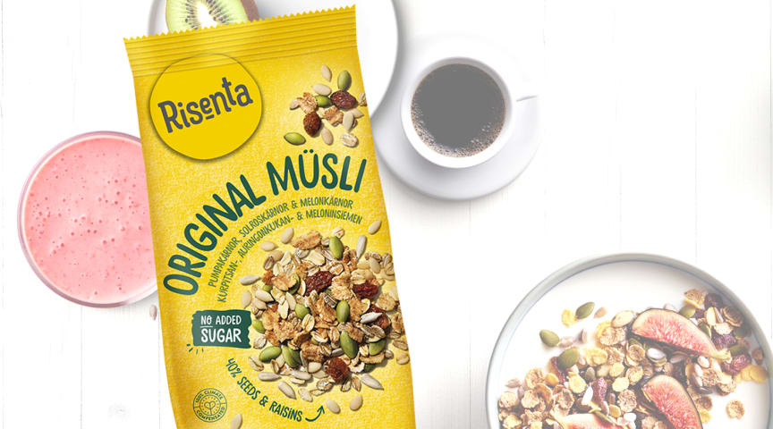 Paulig vill minska på sockret i din frukost - lanserar ny müsli från Risenta