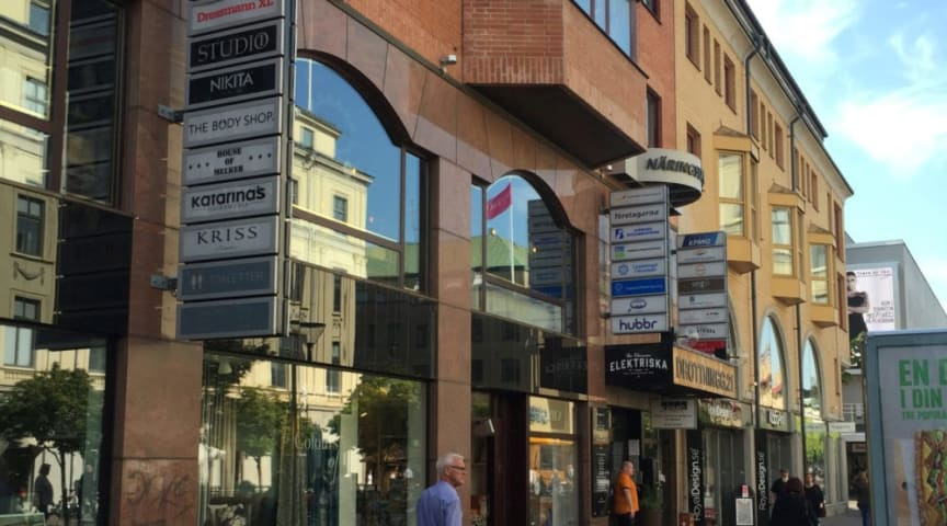 Duvan i centrala Karlstad. Bild: Stadsrum Fastigheter.