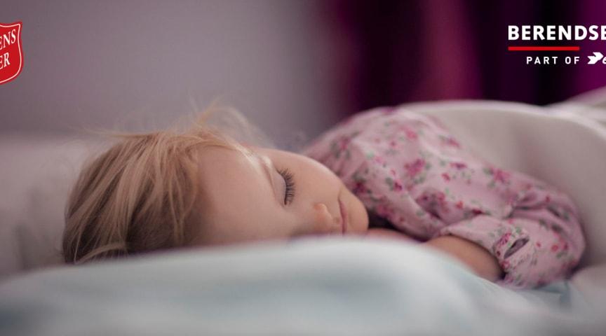 På Frelsens Hær-lejr sover enlige forældre og børn i eksklusivt hotelsengetøj