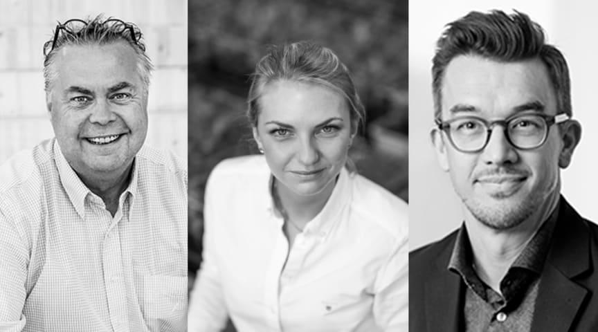 Delar av Empack Advisory Board. Från vänster: Allan Dickner - IKEA, Maria Svantemark - Hållbarhetsstrateg, Jon Haag - RISE.