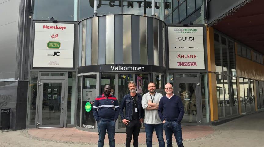 Från vänster: Mamadou Diallo, Ung & Stolt, Johan Rydell, Nokas Security, Stefan Karlsson och Thomas Levander, Atrium Ljungberg.