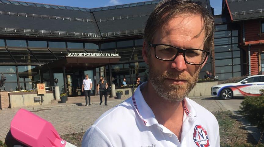 Håvard Skorstad - skitester for IDT og Olympiatoppen - jobber daglig med utvikling av rulleski.