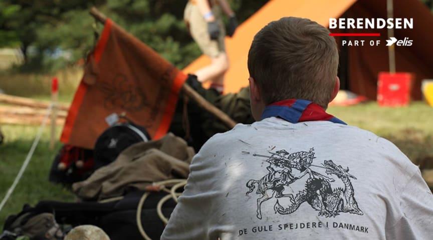 De Gule Spejderes Korpslejr bliver miljøvenlig med genbrugte Berendsen-tekstiler