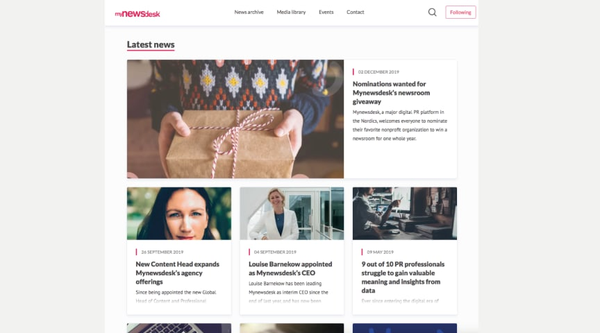 Mynewsdesk reveals new design — the biggest update in 11 years