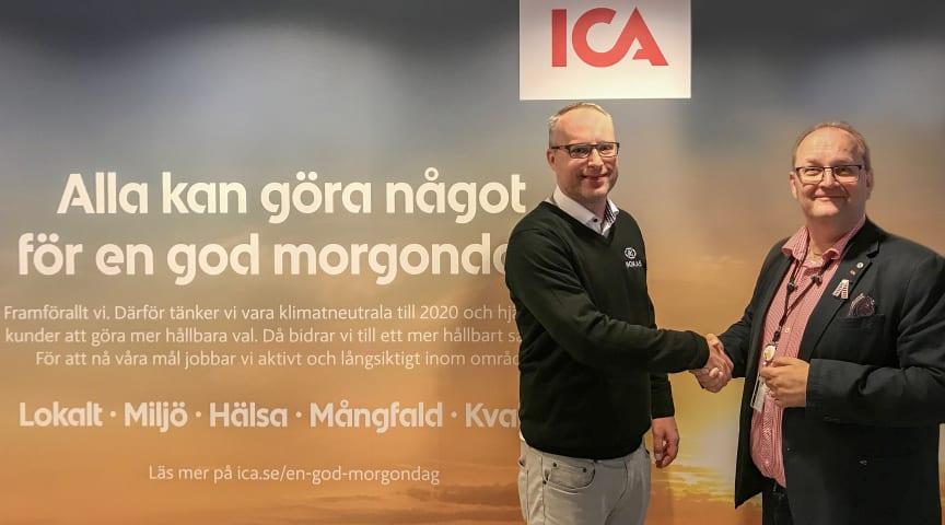 Pär Olsson, försäljning på Nokas Teknik och Kimmo Ollila, security specialist på ICA-gruppen.