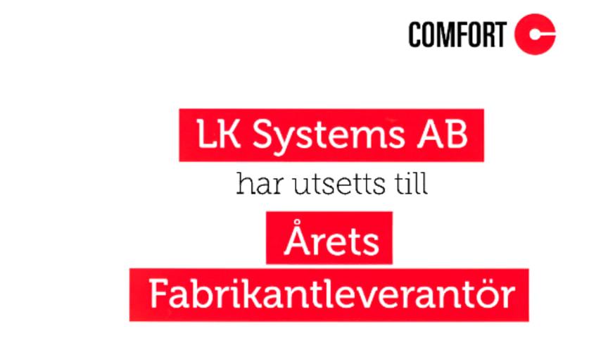 LK Systems har utsetts till Årets Fabrikantleverantör för andra året i rad