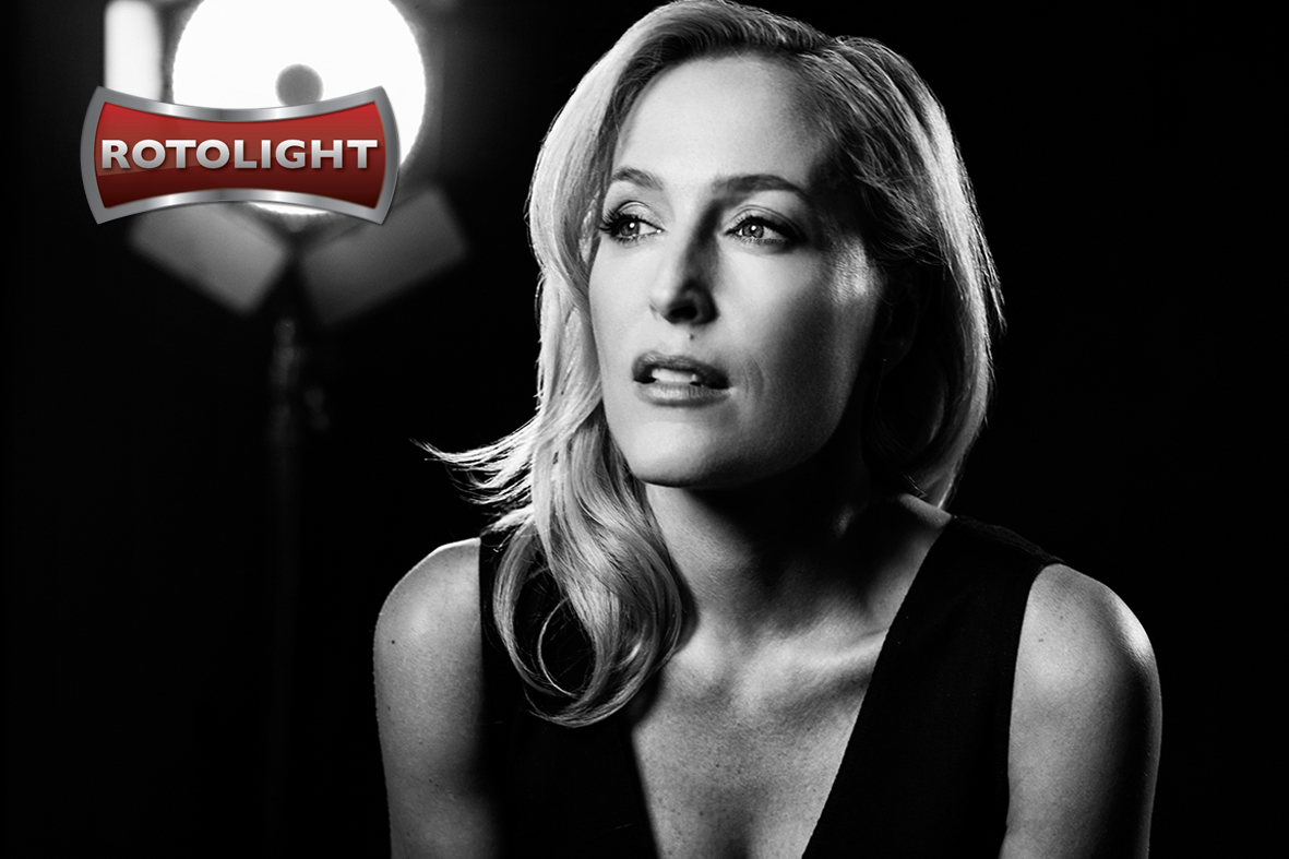 Gillian Anderson, shot by Mark Mann, lit with the Rotolight Anova PRO 2