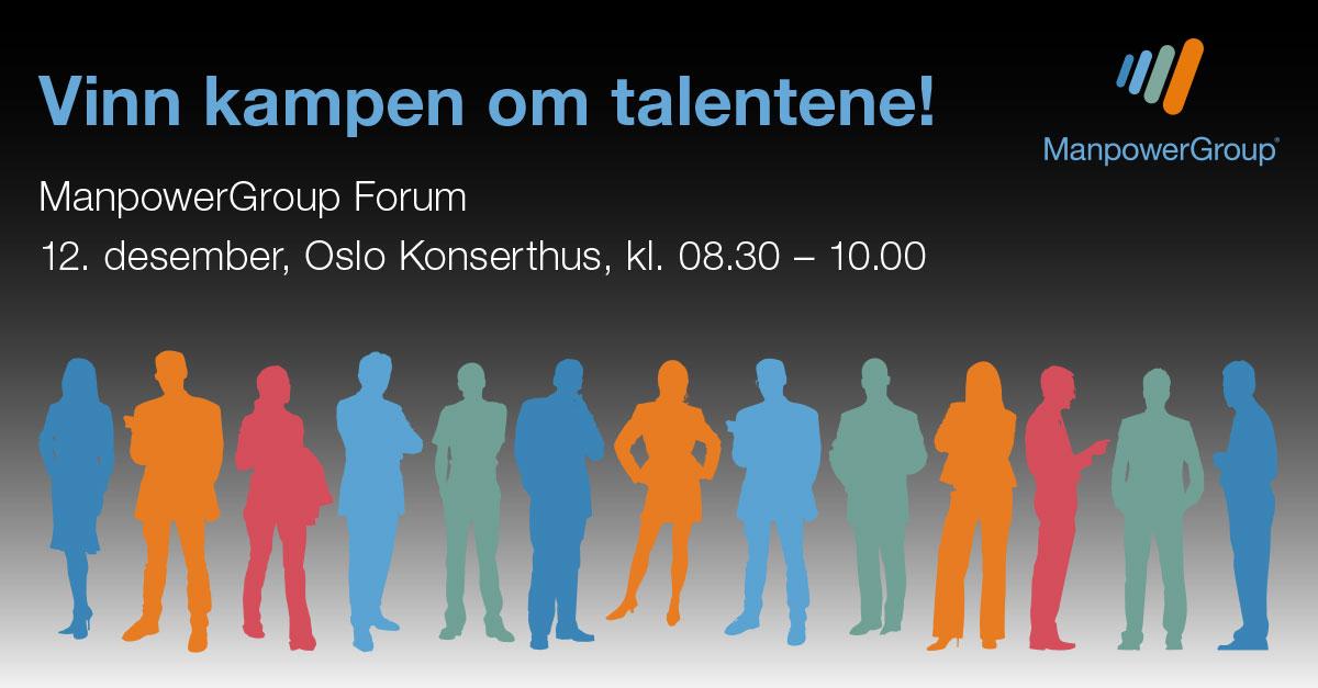 ManpowerGroup Forum 12. desember - Vinn kampen om talentene!