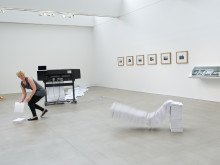 Joanna Hutton - performance; paper, HP Designjet printer, laptop