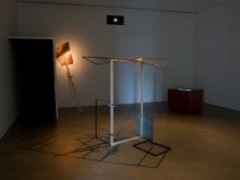 Joanna Hutton - installation; metal, wood, gel, video (loop, 1m 1s)
