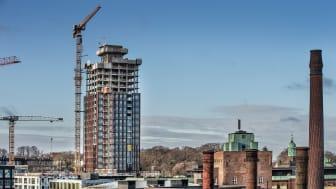 """Im Kopenhagener Quartier """"Carlsberg City District"""" baut ZÜBLIN zwei 80 m hohe Gebäude, hier zu sehen ist der """"Dahlerup Tower"""" (Copyright: ZÜBLIN/Hannah Paludan Kristensen)"""