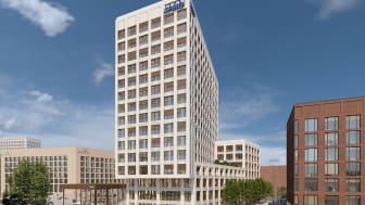 Baustart für KPMG-Dependance CENTRAAL in der MesseCity Köln gestartet (Copyright: HH Vision für ECE/SRE)