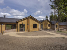 First Lodge Complete at Center Parcs Longford Forest
