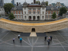 "ZÜBLIN Timber liefert LENO®-Brettsperrholz-Elemente für ""The Smile"" beim London Design Festival 2016"