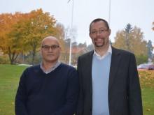Erkki Visti, kommunstyrelsens andre vice ordförande, och Tobias Nordlander, kommunstyrelsens ordförande