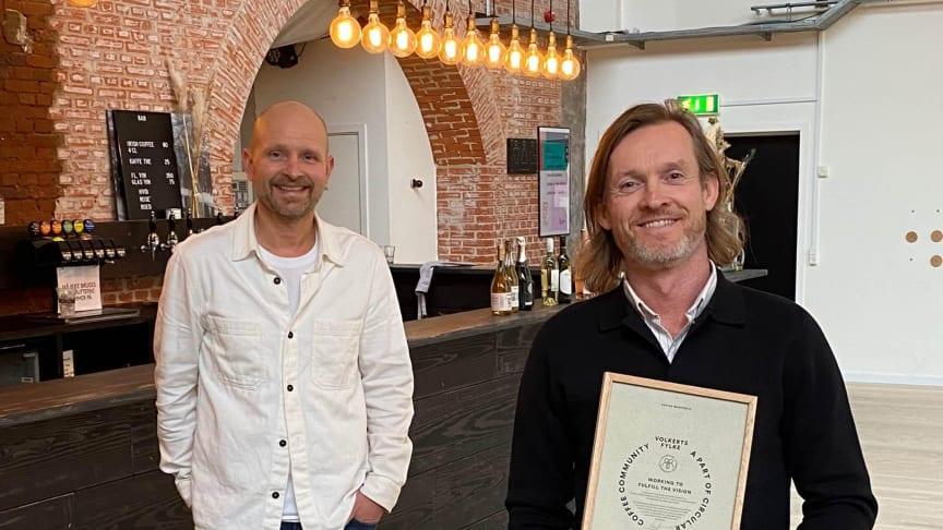 Lars Aaen Thøgersen at Löfbergs and Jimi Kristensen at Volkerts Fylke work together in Circular Coffee Community.