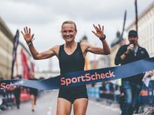 Anna Hahner siegte mit einer Zeit von 01:15:28 Stunden bei den Frauen.