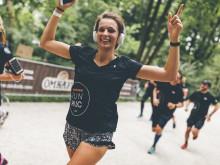 Die 5-km-Läufer drehten eine Runde durch den Englischen Garten - vorbei am Monopteros und Chinesischen Turm - und zurück zur Ludwigstraße.