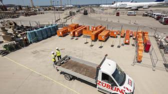 ZÜBLIN, Baulogistik Projekt Terminal 3, Flughafen Frankfurt