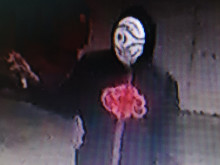 Front view of graffiti suspect