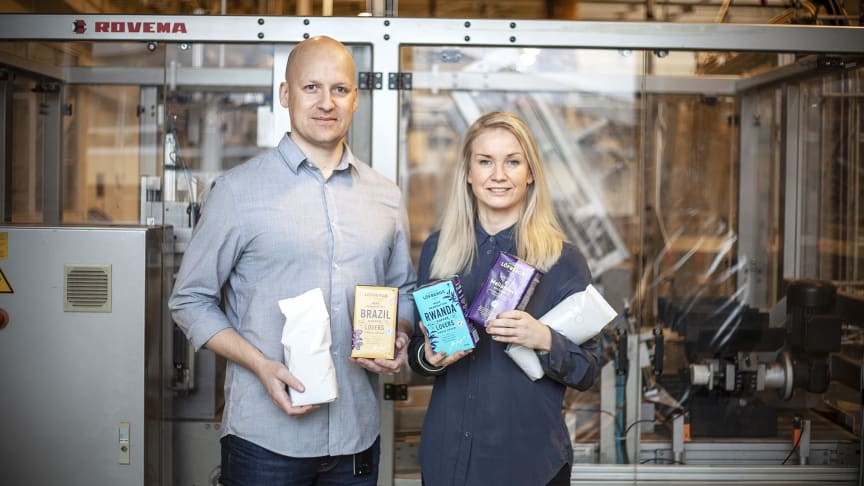 Joakim Svensson, Quality Engineer, and Madelene Breiling, Supply Chain Development Manager, Löfbergs
