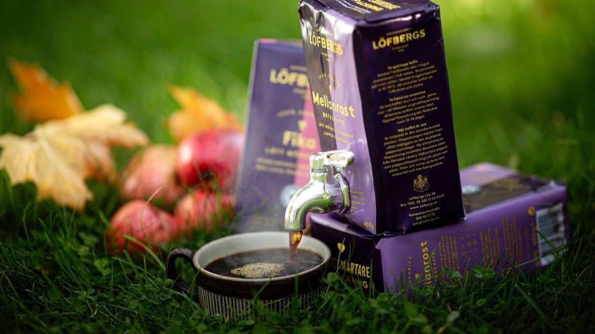 Löfbergs nya kaffe som lanseras idag förväntas bli Sveriges mest sålda bag-in-box. Foto: Tommy Andersson.