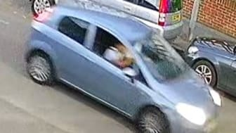 [Image of the Fiat Punto Grande officers want to identify]