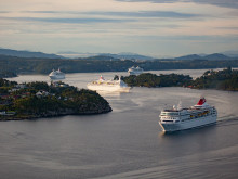 I saw four Fred.s come sailing in! Fred. Olsen Cruise Lines celebrates historic fleet gathering in Bergen on 28th July 2015