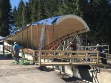 ZÜBLIN Timber, Rennschlittenbahn