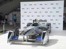 Card payments at the 2015 FIA Formula E Visa London ePrix