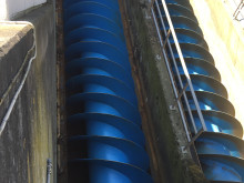 Inloppsskruv Öresundsverket - efter renovering