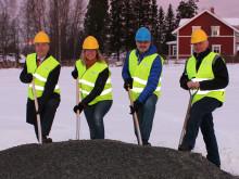 Första spadtaget tas för nya bostäder i Hackås