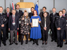 Two officers recognised for exceptional work dealing with collisions