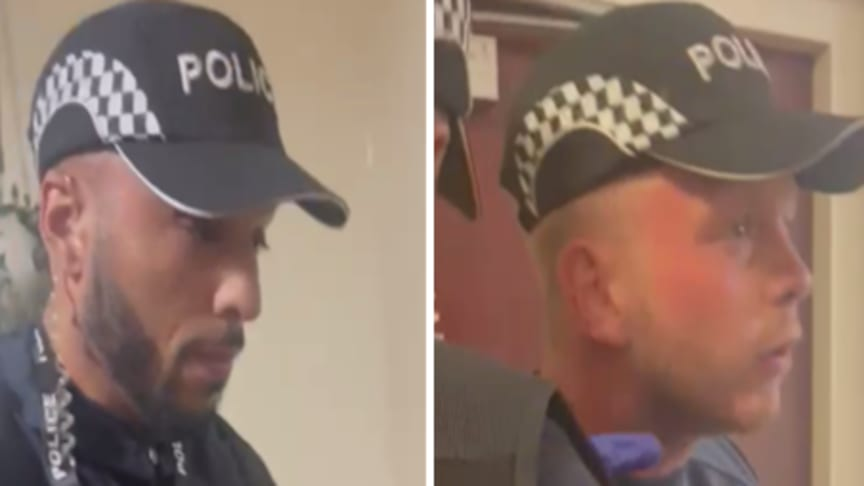 Video on social media appearing to show men impersonating police officers in east London
