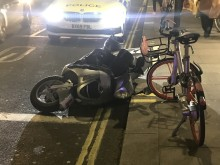 Fail-to-stop moped rider detained by Op Venice officers, Hammersmith & Fulham