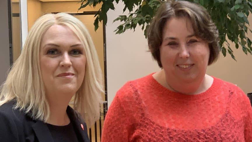 Lena Hallengren, socialminister och Malin Ekman Aldén, generaldirektör på Myndigheten för delaktighet