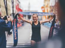 Ein bekanntes Gesicht: Anna Hahner holte sich den Jubiläums-Sieg auf den 21,1 Kilometern.
