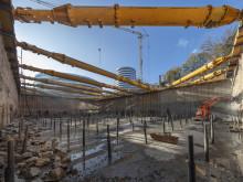 The Cradle: Start der Hochbauarbeiten an Düsseldorfs Pionierprojekt / ZÜBLIN Spezialtiefbau schließt Tiefbauarbeiten ab