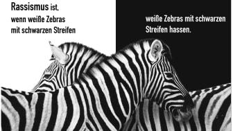 Studierende der Designpädagogik an der Universität Vechta entwickelten wöchentlich Plakate zum Thema Alltagsrassismus und präsentieren diese zum Monat der Vielfalt 2021 digital. (Plakat: Marice Hörnschemeyer)