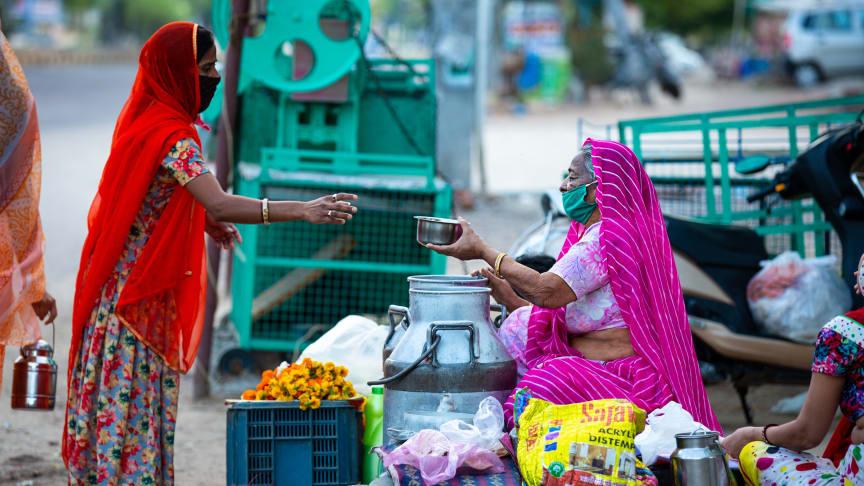 Marknaden i Jodhpur, Rajasthan, Indien. Svenska missionsrådet samarbetar genom sina medlemsorganisationer med lokala partner i över 50 länder.