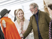 Catwalk king visits Northumbria's fashion studio