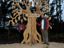 Art sculpture designed by local student unveiled at Center Parcs