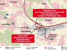 Airport connection of new Stuttgart–Ulm railway line