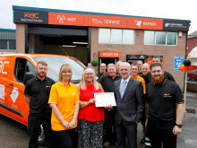 Tameside garage flies the flag for the RAC nationwide