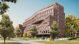 ZÜBLIN errichtetet im Auftrag der iLive Commerz Real Campus Zwei GmbH ein neues Studierenden-Wohnheim im Frankfurter Nordend. copyright / Visualisierung: AI+P Planungs GmbH